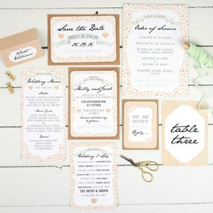 Floral Keepsake Wedding Stationery Sample Pack - new in home