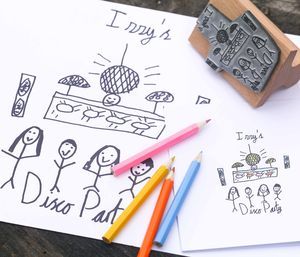 Children's Art Stamp - invitations