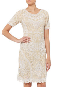 Gold And Ivory Thread Dress