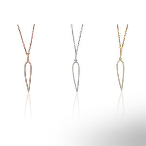 Needle Necklace 925 Sterling Silver - necklaces & pendants