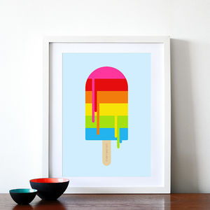 Rainbow Ice Lolly Print