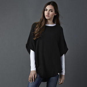 Reversible Poncho Classic Colours - women's fashion