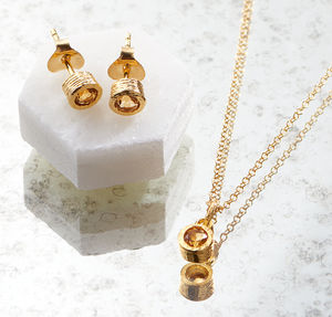 Citrine Gold Jewellery Gemstone Gift Set - jewellery sets