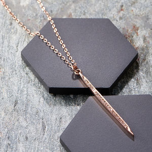 Rose Gold Pave Diamond Spike Pendant - fine jewellery