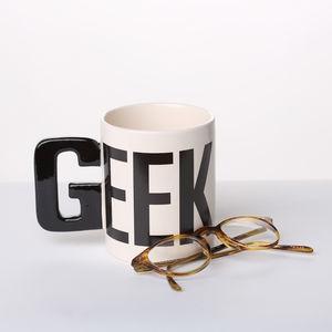 Alphabet Mug 'Geek' - exam congratulations gifts