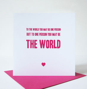 'The World' Card/Print - anniversary cards