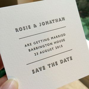 Save The Date Letterpress Card - save the date cards