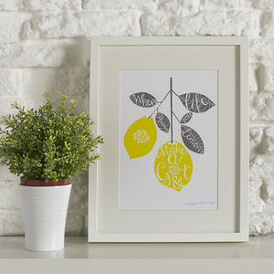 Lemon Gin And Tonic Screen Print - contemporary art
