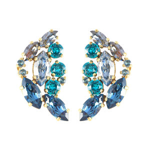 Tail Feather Aleta Earrings - statement jewellery