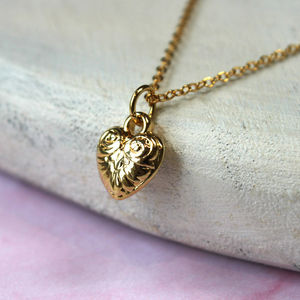 Bridesmaid Heart Charm Necklace - wedding fashion