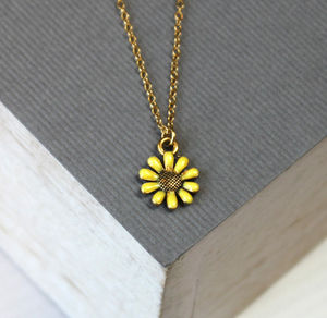 Bridesmaid Yellow Flower Necklace