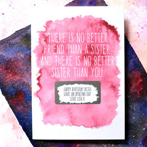 Personalised Sister Birthday Scratch Card - birthday cards