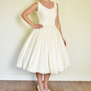 Chiffon Boat Neck Wedding Dress - wedding fashion
