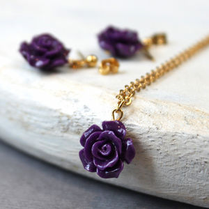 Bridesmaid Rose Charm Gift Set