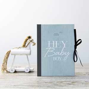 Mini Baby Photo Album 'Boasting Book' For Boys - keepsake albums