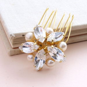 Crystal And Pearl Bridal Hair Comb - women's accessories