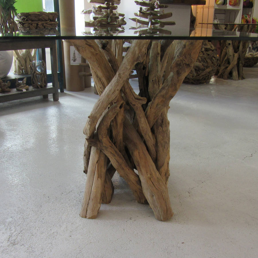 driftwood dining table to seat four by karen miller doris brixham