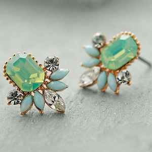 Mint Dream Earrings - statement jewellery
