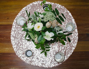 Sequin Table Centrepiece Cloth - dining room