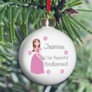 Our Bridesmaid Personalised Wedding Bauble