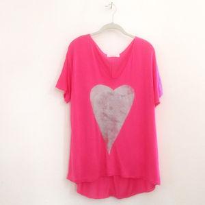 Hot Pink British Made T Shirt