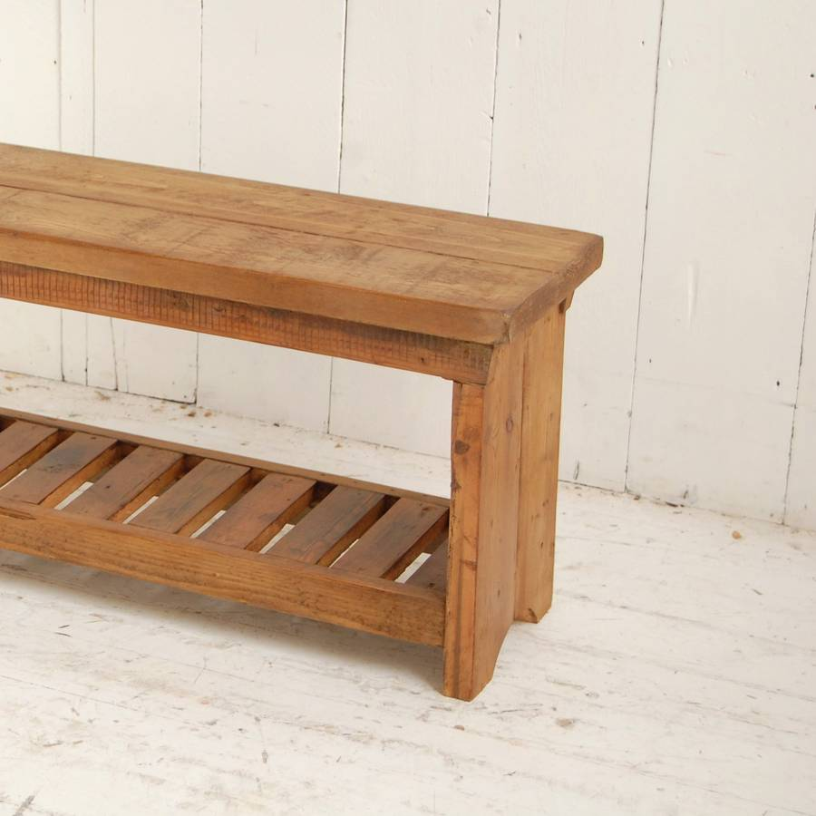 Long Wooden Bench By Eastburn Country Furniture