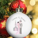 Wedding Couple Personalised Bauble