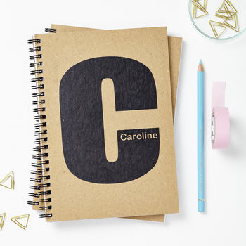 Personalised Initial Notebook Journal