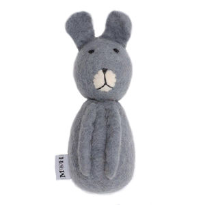 Wool Bunny Dog Toy - toys