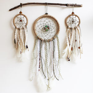 Three Dream Catchers Complete Wall Hanging