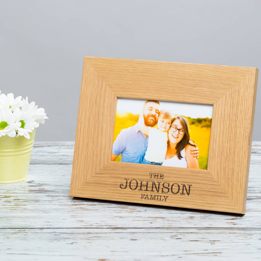Personalised Family Photo Frame Picture Frame By Dust