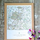 Personalised Framed Map My House Print