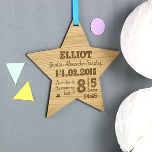 Large Star Baby Details Wall Hanging - wall hangings for children