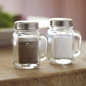 Salt And Pepper Mason Jars - salt & pepper pots