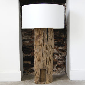 Driftwood Trunk Lamp With Shade