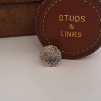 Victorian Silver Threepence Buttonhole