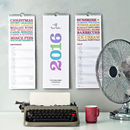 2016 Typographic Calendar