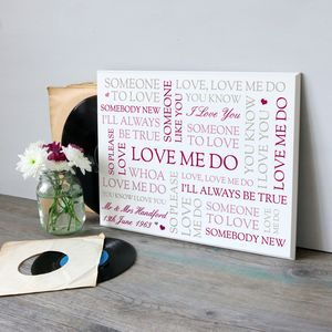 First Dance Song Lyrics Printed Wooden Plaque - personalised wedding gifts