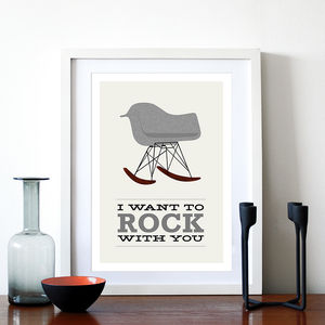 'I Want To Rock With You' Eames Rocking Chair Print