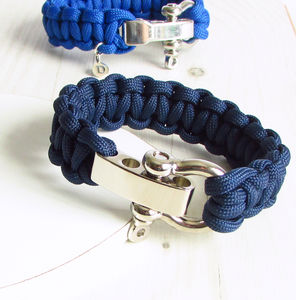Mens Personalised Paracord Bracelet - men's jewellery