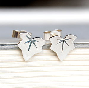 Little Ivy Leaf Stud Earrings