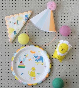 Silly Circus Party Paper Plates