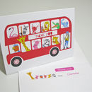 Personalised London Bus Thank You Card
