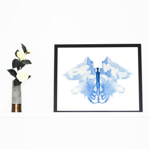 Modern Abstract Watercolour Art Print 'Inkblot'