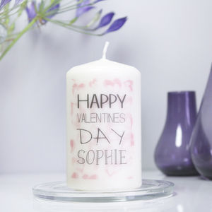 Personalised Valentines Day Candle - occasional supplies