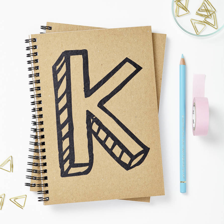 Personalised Letter Notebook