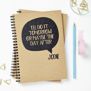 Personalised Speech Bubble Notebook - off to university