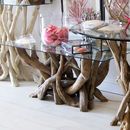 Rectangular Driftwood Coffee Table Base