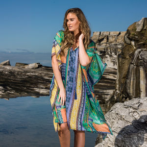 Macarena Silk Kaftan - women's fashion