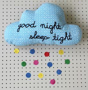 Good Night Sleep Tight Blue Cloud Cushion - cushions